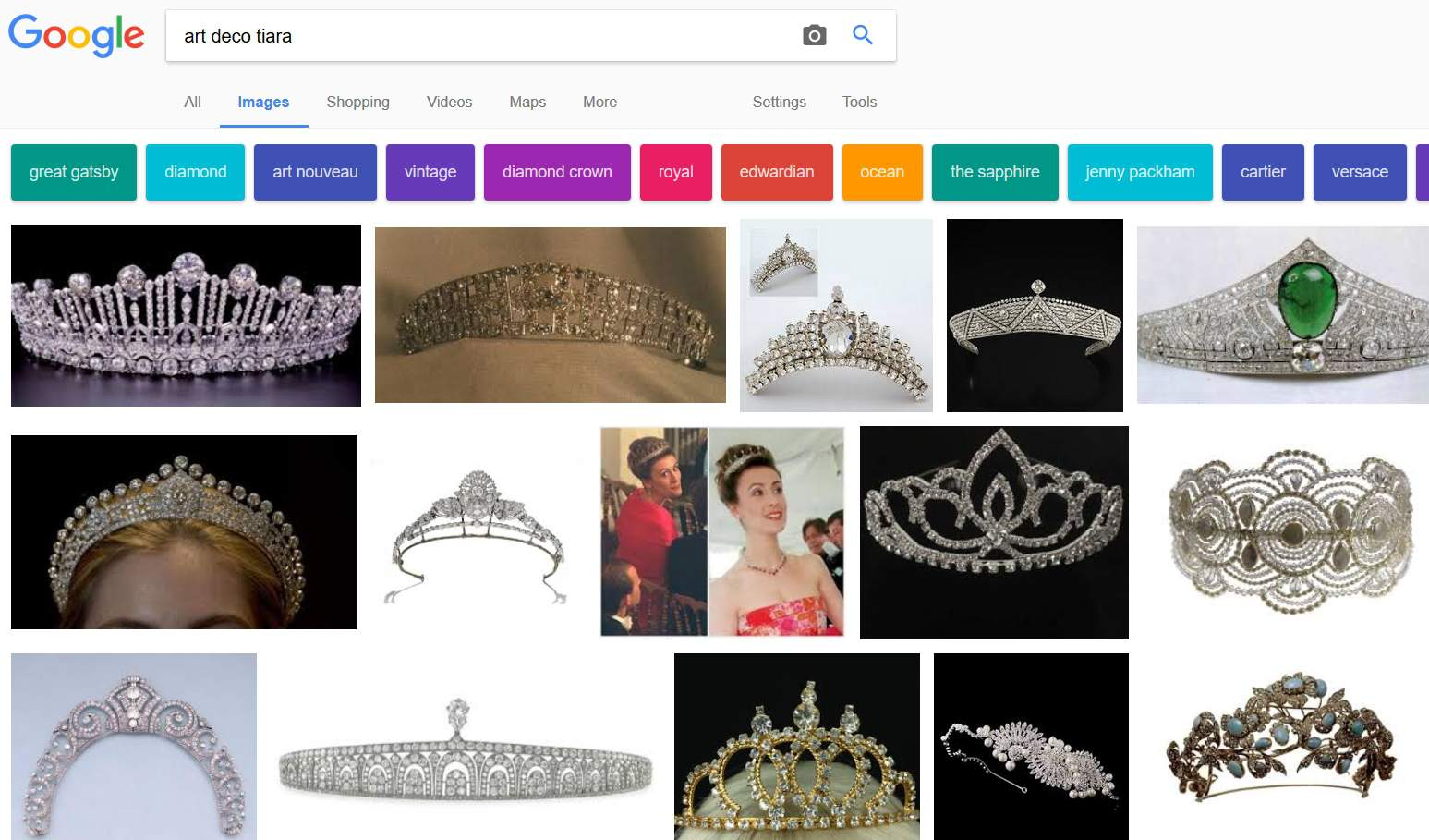 art deco tiara on Google Search