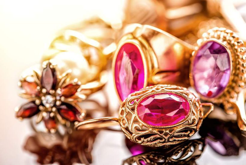 buying vintage ruby engagement rings - ruby jewelry