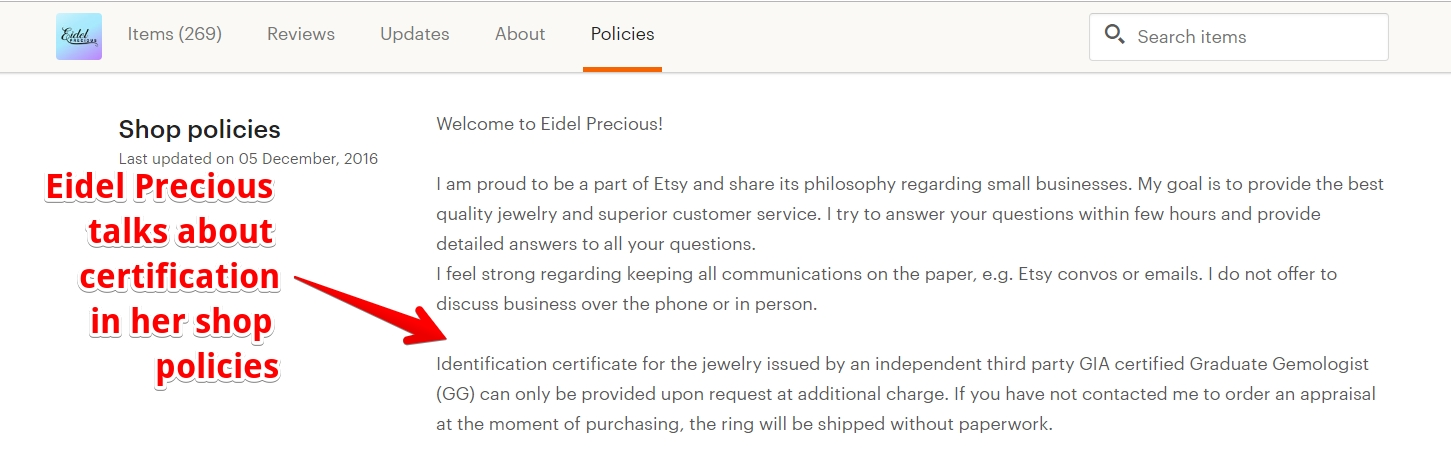 GIA certification on engagement rings