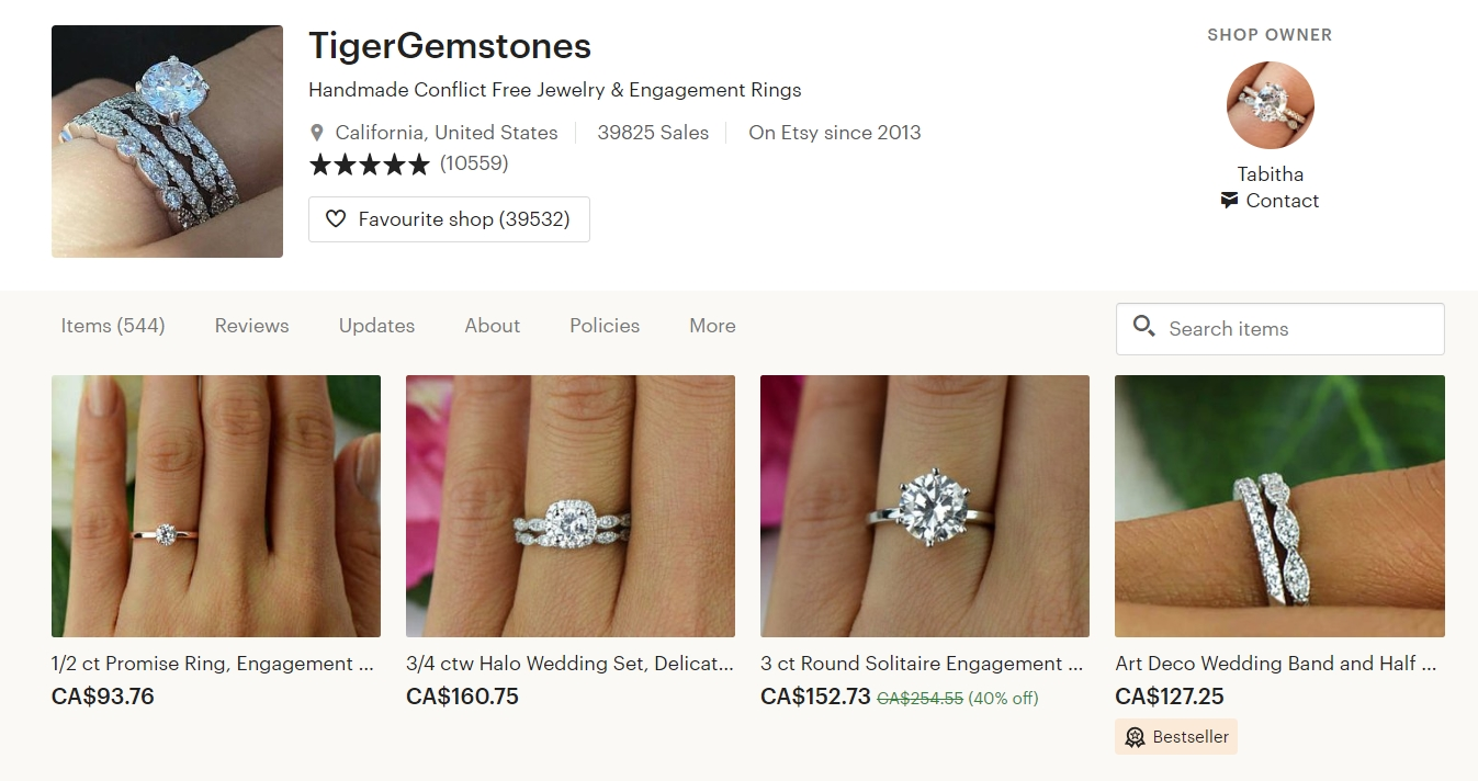 The Best Engagement Ring Shops On Etsy 2019 How To Buy Vintage Jewelry