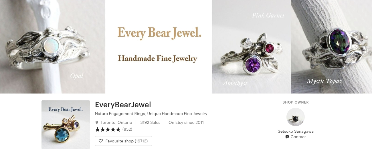 Best Canadian Ring Shops on Etsy - Every Bear Jewel