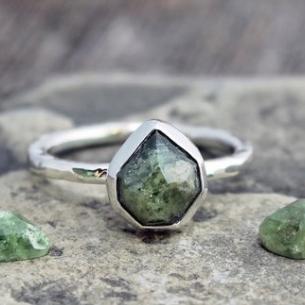 Demantoid Garnet Ring by The Spiral River on Etsy