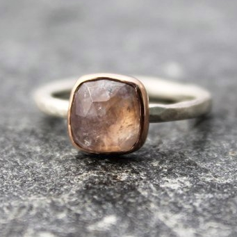 Rainbow Moonstone Ring by The Spriral River on Etsy
