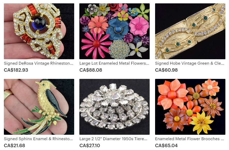 Examples of the Jewelry Available at Girlz Gone Vintage on Etsy
