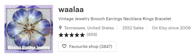 Vintage Jewelry Brooch Earrings Necklace Rings Bracelet by waalaa