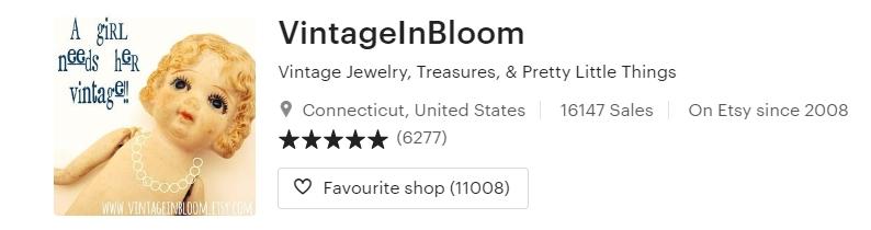 Vintage Jewelry Treasures & Pretty Little Things by VintageInBloom