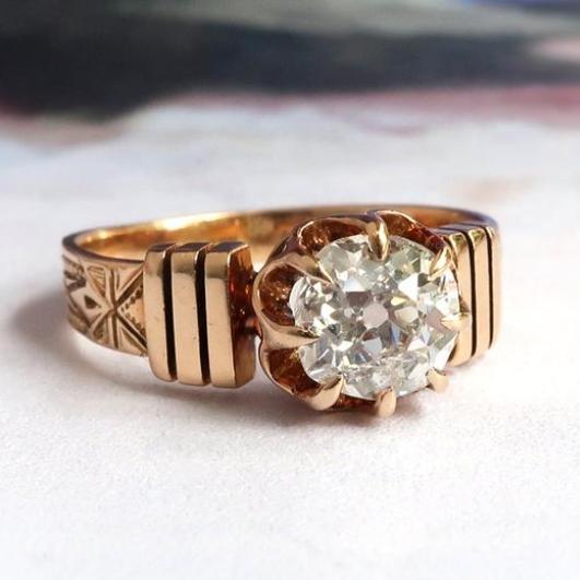 Antique Victorian Solitaire Engagement Ring