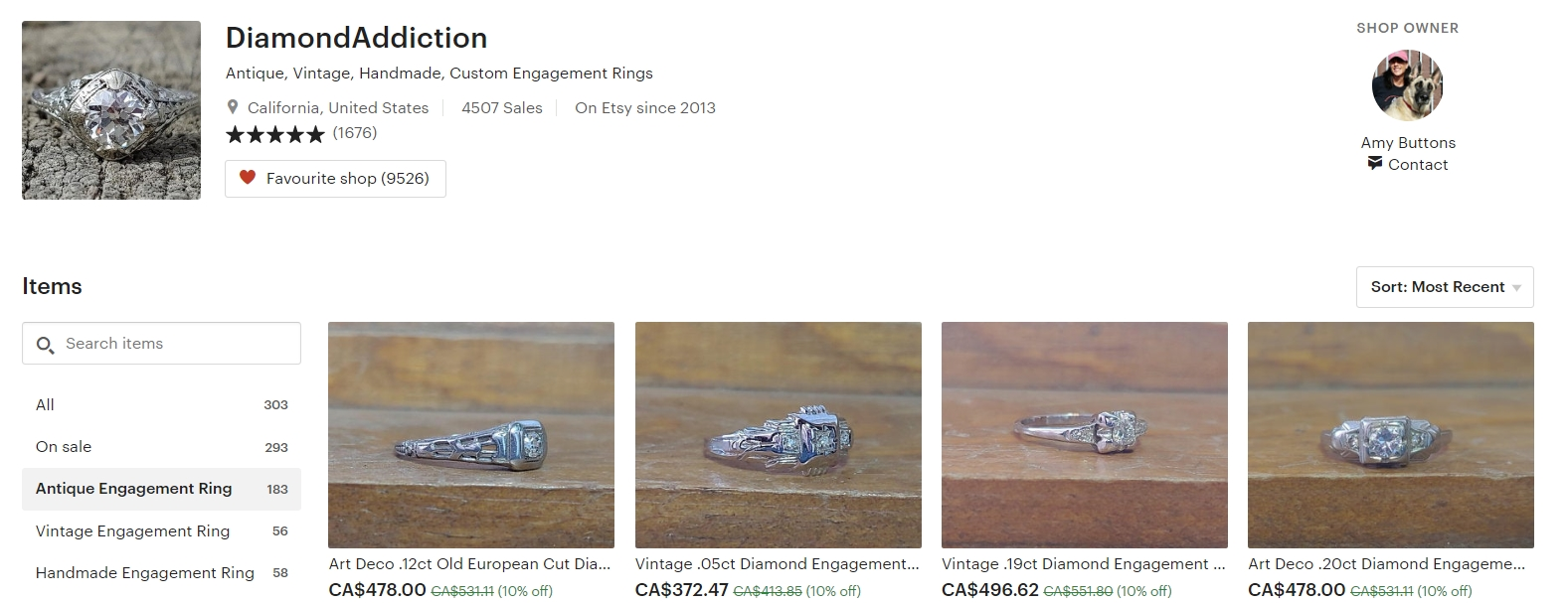 Antique Vintage Engagement Rings by DiamondAddiction on Etsy