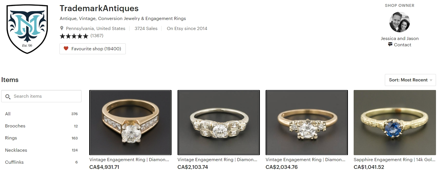 Antique Vintage Engagment Rings by TrademarkAntiques on Etsy