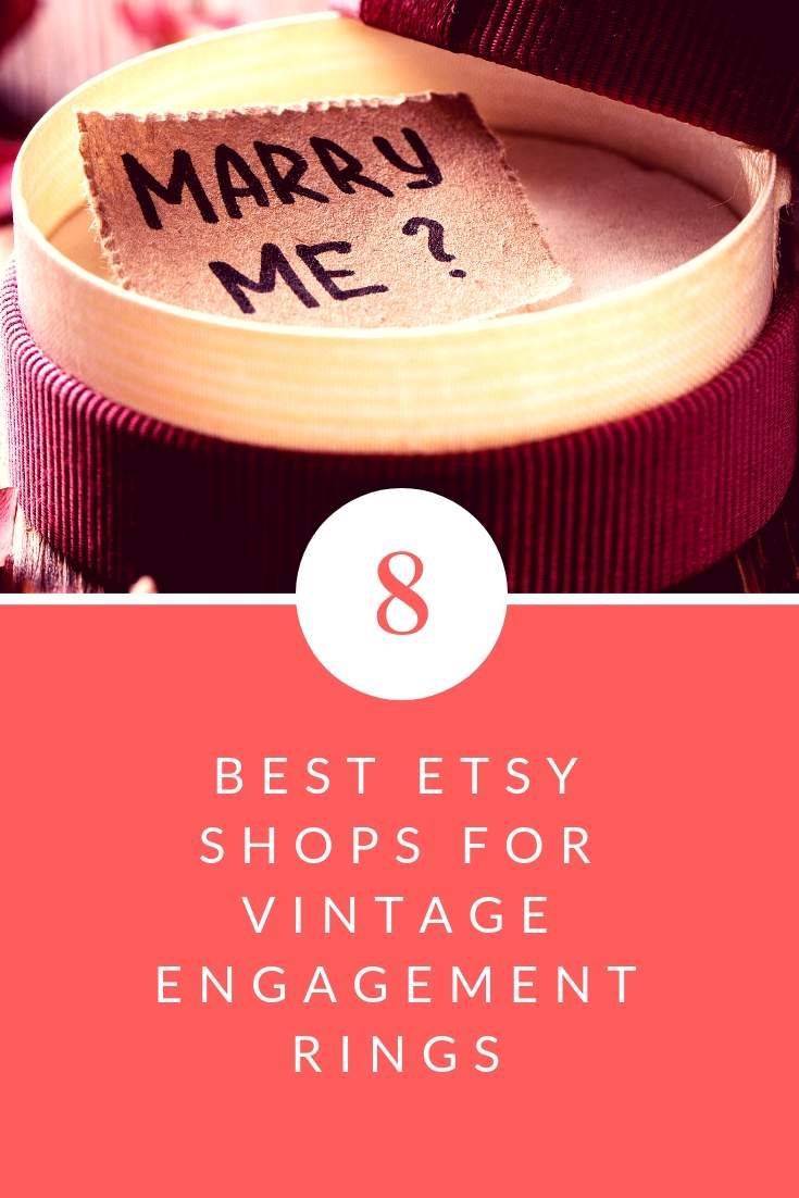 best etsy shops for vintage engagment rings