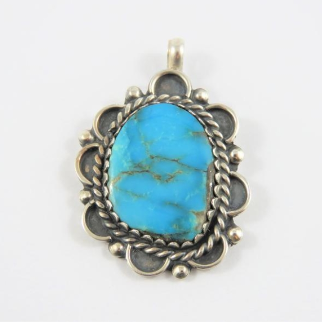 Mexican Sterling Silver Howlite Pendant