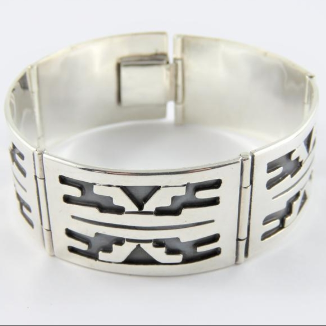Mexican Sterling Silver Overlay Bracelet