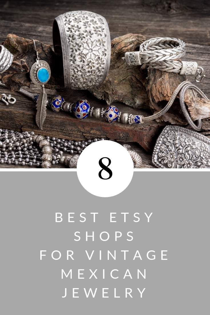best etsy shops for vintage mexican silver jewelry