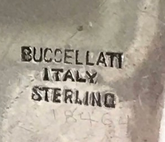 Buccellati sterling mark