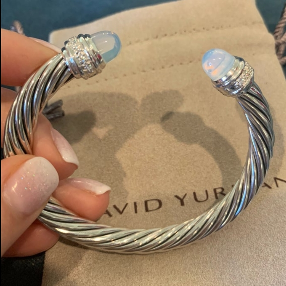 David Yurman Moonstone Cable Bracelet from JewelGardenBoutque on Etsy