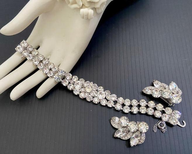 Eisenberg-Ice-Crystal-Demi-Bracelet-and-Earrings-Set-from-Vintageimagine-on-Etsy