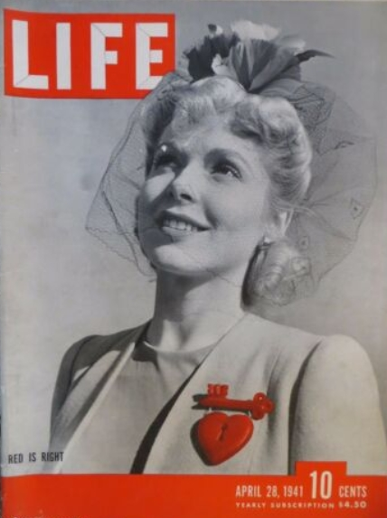 Life Magazine April 28,1941 Red Is Right