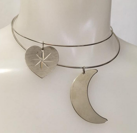 1970s stainless steel wire chokers from TinTrunk on Etsy