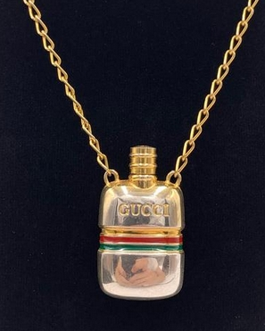 GUCCI Vintage Perfume Bottle Necklace from Proud Boutique on Etsy