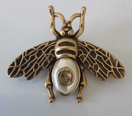 Vintage Gold Plated Gucci bumblebee bee brooch from OKHSTUFF on Etsy